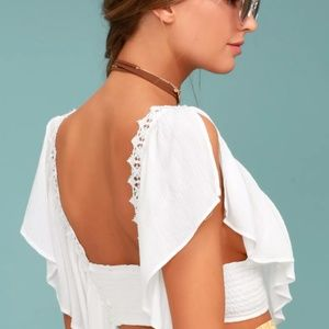 e950c85ed83b9c Lulu s Tops - LULUS SATURDAY IN THE PARK WHITE LACE CROP ...